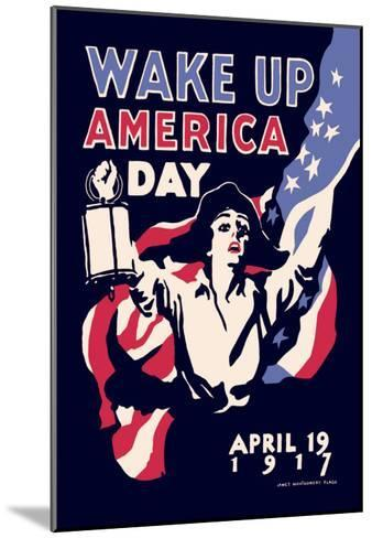 Wake Up America Day-James Montgomery Flagg-Mounted Art Print