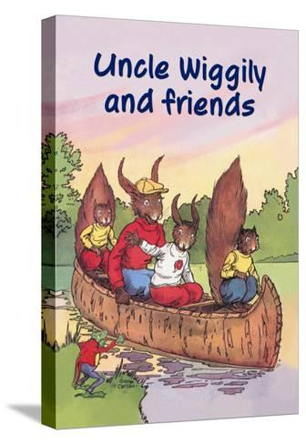 Uncle Wiggily and Friends: The Canoe Trip--Stretched Canvas Print