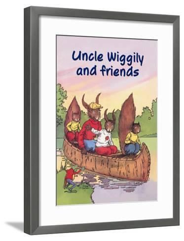 Uncle Wiggily and Friends: The Canoe Trip--Framed Art Print