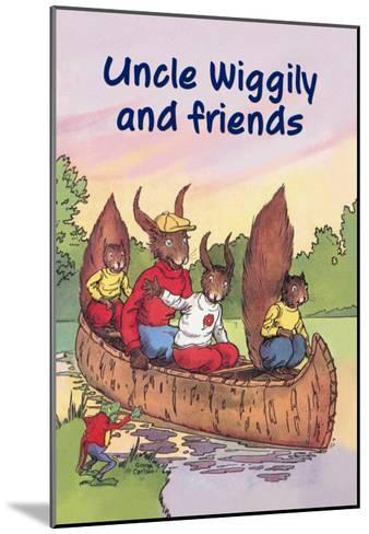 Uncle Wiggily and Friends: The Canoe Trip--Mounted Art Print