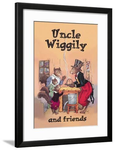Uncle Wiggily and Friends: Pudding--Framed Art Print