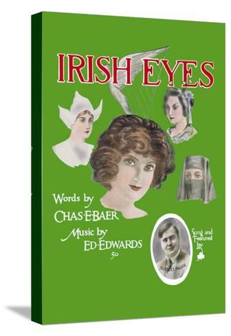 Irish Eyes--Stretched Canvas Print