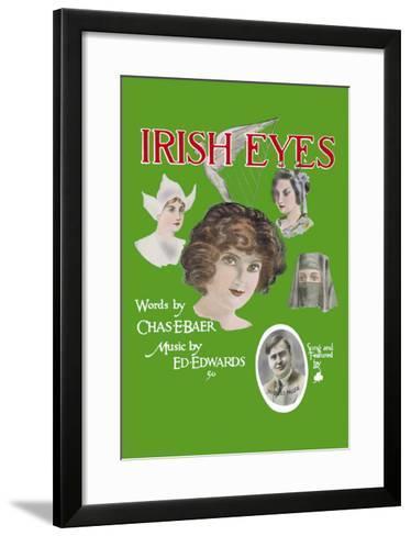 Irish Eyes--Framed Art Print