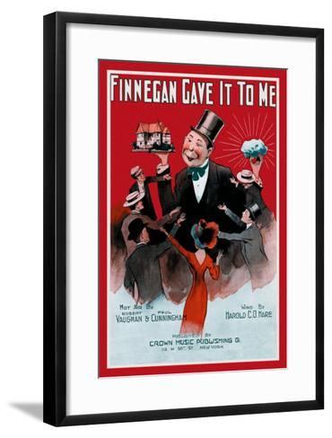 Finnegan Gave It To Me--Framed Art Print
