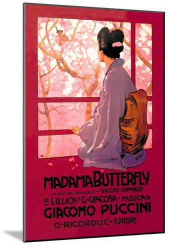Madama Butterfly--Mounted Art Print