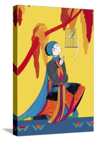 The Talking Bird-Frank Mcintosh-Stretched Canvas Print
