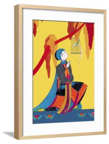 The Talking Bird-Frank Mcintosh-Framed Art Print