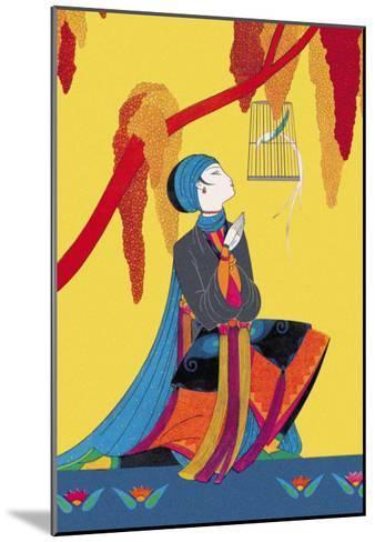 The Talking Bird-Frank Mcintosh-Mounted Art Print