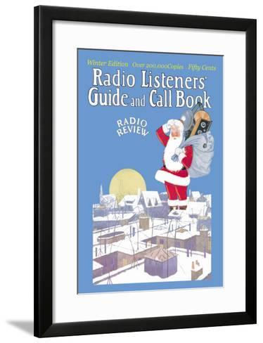 Giant Santa with Radio Components--Framed Art Print