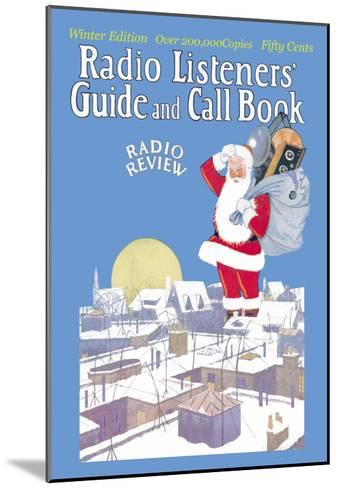 Giant Santa with Radio Components--Mounted Art Print