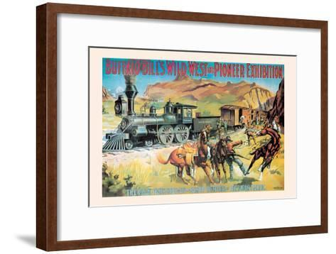 Buffalo Bill: The Great Train Hold Up--Framed Art Print