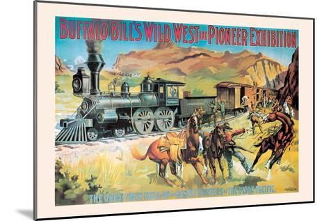 Buffalo Bill: The Great Train Hold Up--Mounted Art Print