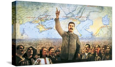 Understanding the Leadership of Stalin, Come Forward with Communism-Boris Berezovskii-Stretched Canvas Print