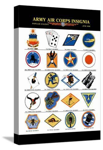 Army Air Corps Insignia--Stretched Canvas Print