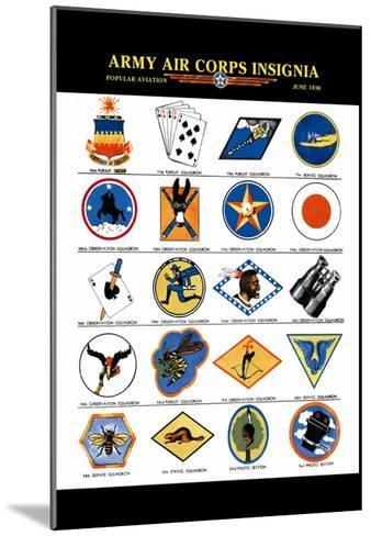 Army Air Corps Insignia--Mounted Art Print