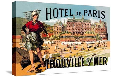 Hotel de Paris: Trouville-sur-Mer, c.1885-Th?ophile Alexandre Steinlen-Stretched Canvas Print