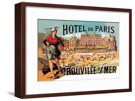 Hotel de Paris: Trouville-sur-Mer, c.1885-Th?ophile Alexandre Steinlen-Framed Art Print