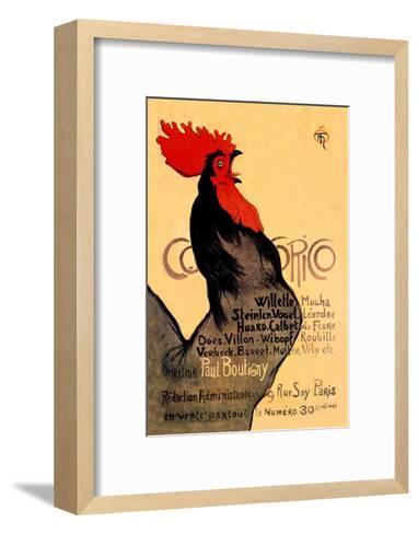 Cocorico, c.1899-Th?ophile Alexandre Steinlen-Framed Art Print