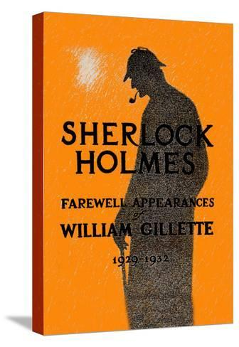 William Gillette as Sherlock Holmes: Farewell Appearance--Stretched Canvas Print