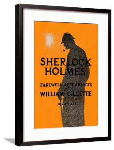 William Gillette as Sherlock Holmes: Farewell Appearance--Framed Art Print