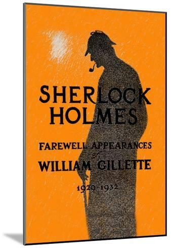 William Gillette as Sherlock Holmes: Farewell Appearance--Mounted Art Print