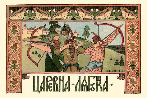 Archers-Ivan Bilibin-Stretched Canvas Print