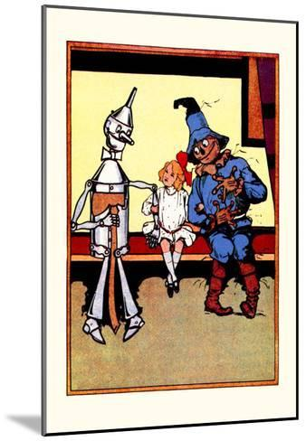 Tin Man, Dorothy and Scarecrow-John R^ Neill-Mounted Art Print