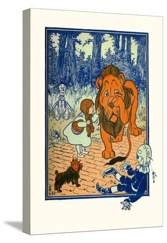 The Cowardly Lion-William W^ Denslow-Stretched Canvas Print