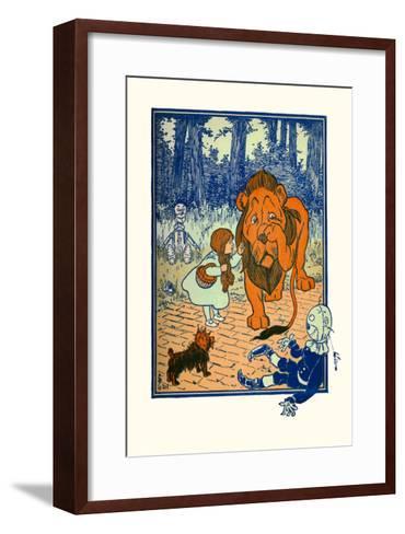 The Cowardly Lion-William W^ Denslow-Framed Art Print