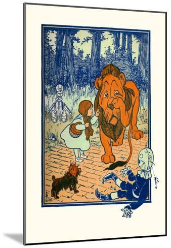 The Cowardly Lion-William W^ Denslow-Mounted Art Print