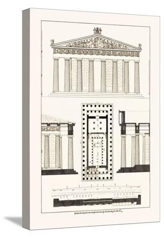 The Parthenon at Athens-J^ Buhlmann-Stretched Canvas Print