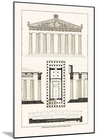 The Parthenon at Athens-J^ Buhlmann-Mounted Art Print