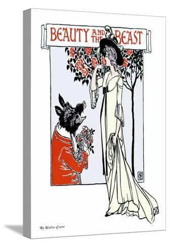 Beauty and the Beast, c.1900-Walter Crane-Stretched Canvas Print