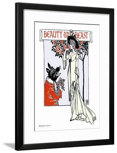 Beauty and the Beast, c.1900-Walter Crane-Framed Art Print