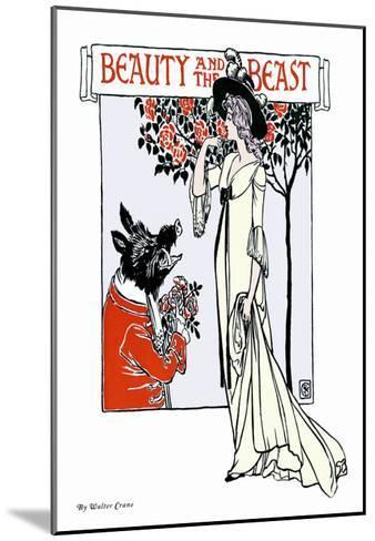 Beauty and the Beast, c.1900-Walter Crane-Mounted Art Print