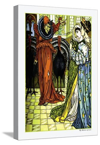 The Yellow Dwarf, The Sorcerer, c.1878-Walter Crane-Stretched Canvas Print
