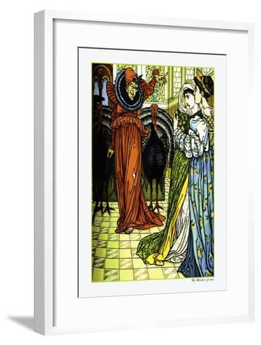 The Yellow Dwarf, The Sorcerer, c.1878-Walter Crane-Framed Art Print
