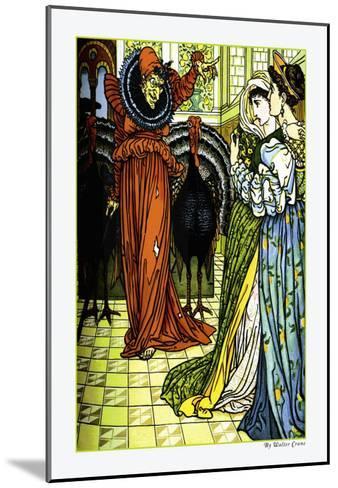The Yellow Dwarf, The Sorcerer, c.1878-Walter Crane-Mounted Art Print