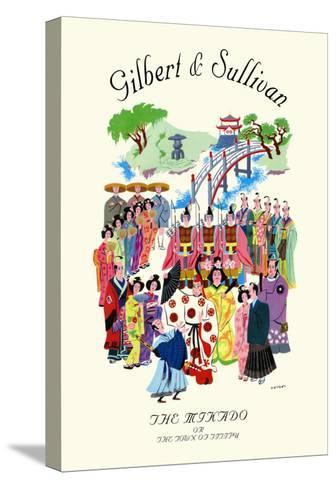Gilbert & Sullivan: The Mikado, or The Town of Titipu--Stretched Canvas Print