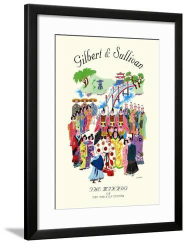 Gilbert & Sullivan: The Mikado, or The Town of Titipu--Framed Art Print