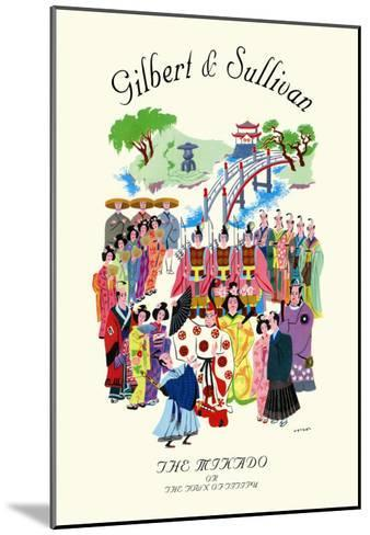 Gilbert & Sullivan: The Mikado, or The Town of Titipu--Mounted Art Print