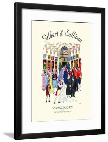 Gilbert & Sullivan: Ruddigore, or The Witch's Curse--Framed Art Print