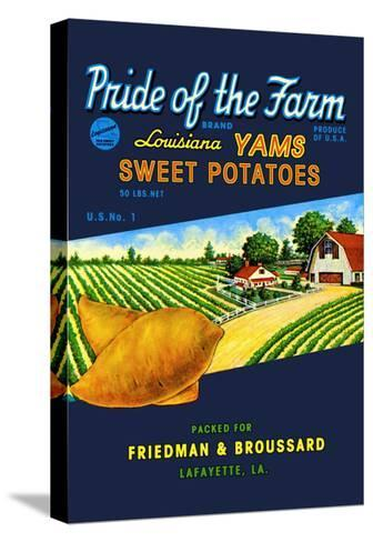 Pride of the Farm Brand--Stretched Canvas Print