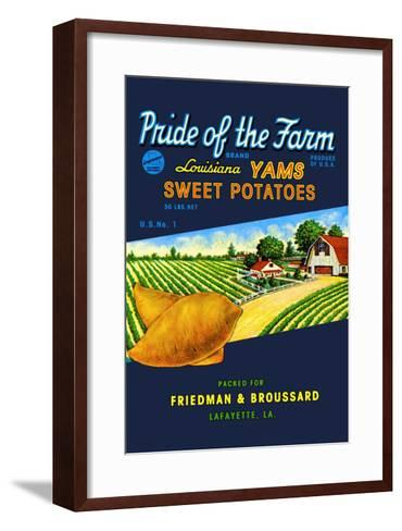 Pride of the Farm Brand--Framed Art Print