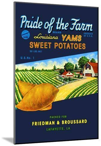 Pride of the Farm Brand--Mounted Art Print