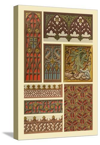 Medieval Woodwork-Racinet-Stretched Canvas Print