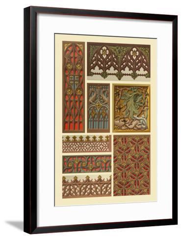 Medieval Woodwork-Racinet-Framed Art Print