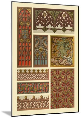 Medieval Woodwork-Racinet-Mounted Art Print