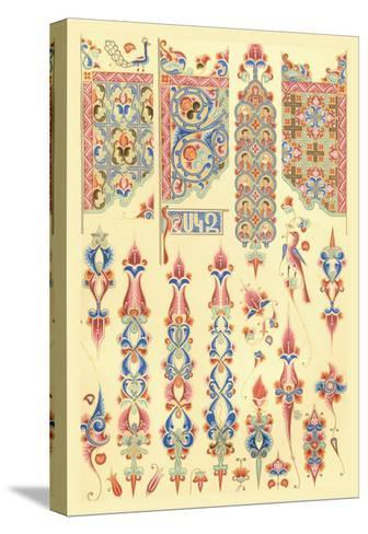 Armenian Design-Racinet-Stretched Canvas Print