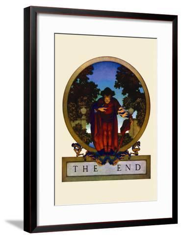 The End-Maxfield Parrish-Framed Art Print